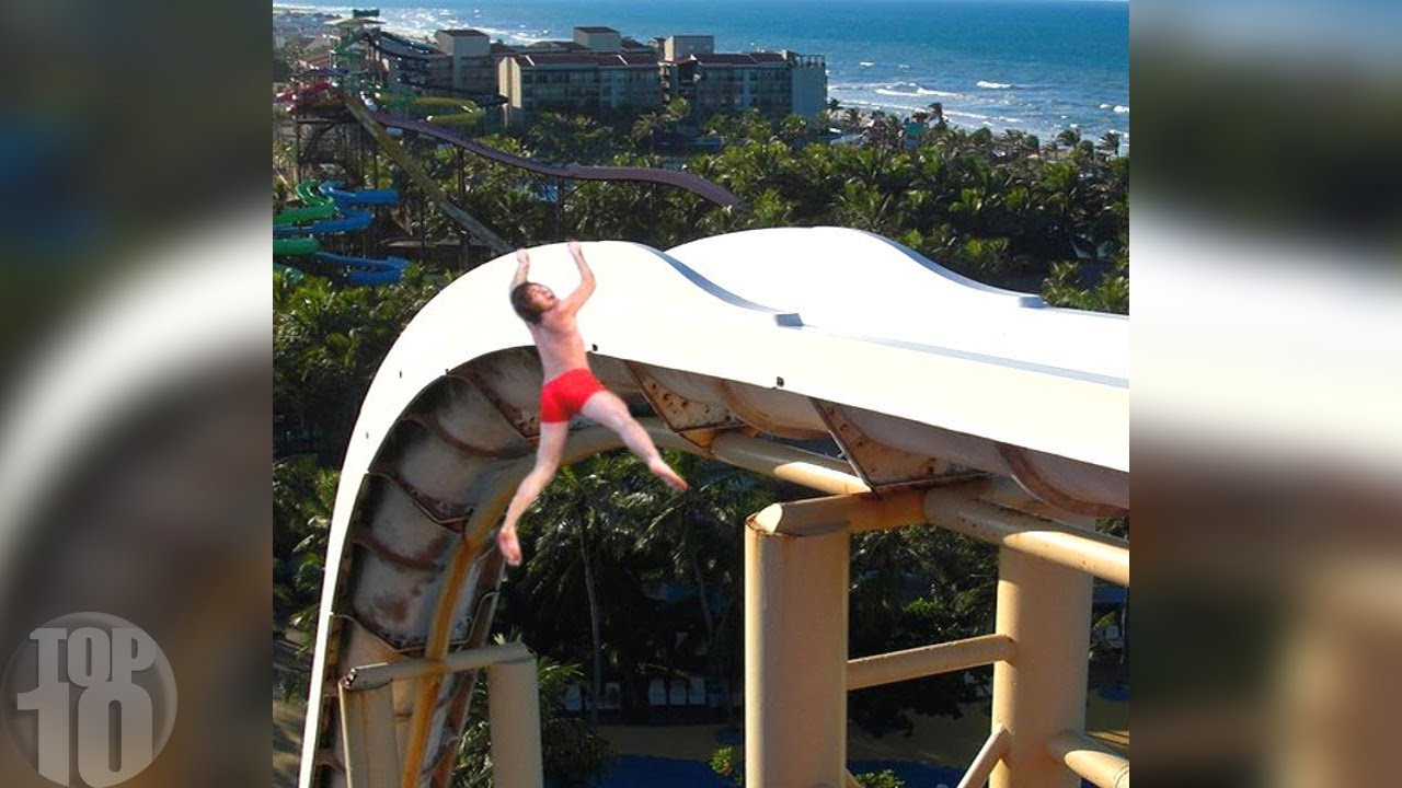 10 People Who Fell Off Waterslides