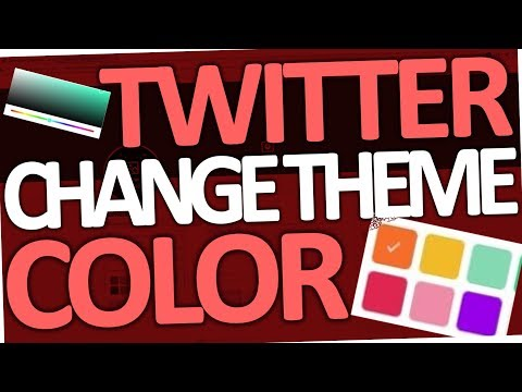 How to change Twitter Theme Color (2018)