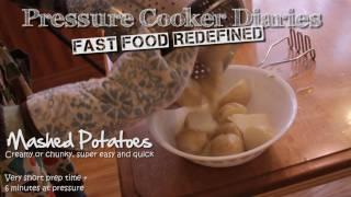 How To Make Mashed Potatoes - Pressure Cooker 6 Minute Garlic Mashed Potatoes