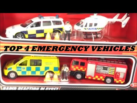 Top 4 Emergency Vehicle Toys Inc Fire Engine Police Car