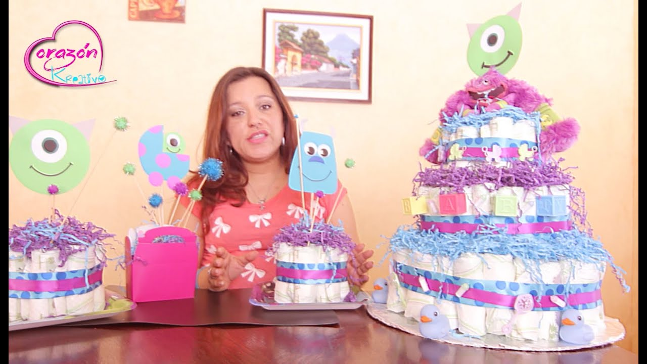 Como hacer un Baby Shower con el tema de la pelicula de Monsters Inc. - YouTube