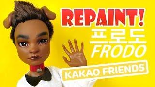 Repaint! Kakao Talk Friends Frodo 카카오 프렌즈 프로도 Custom Ooak Doll