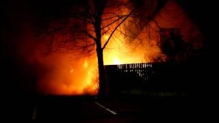Brand i skur op ad hus på Chr  F  Jensensvej i Jyderup   150314