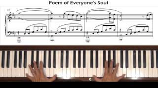 Poem of Everyone's Soul Persona 3 Piano Tutorial