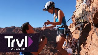 This Adventurous Couple Got Engaged While Rock Climbing - Travel Channel