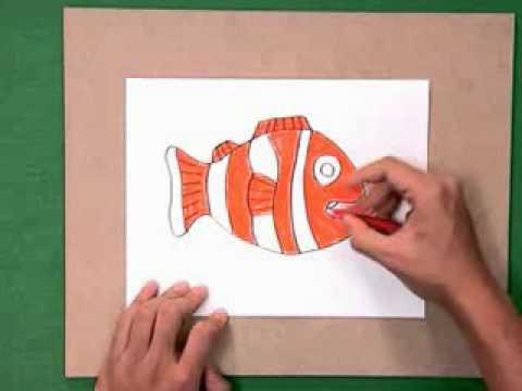สอนศิลป์ตอนที่15 เกมตกปลา