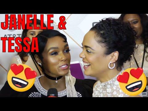 Janelle Monae Interrupts Tessa Thompson Interview