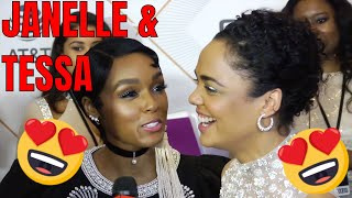 Janelle Monae Interrupts Tessa Thompson Interview