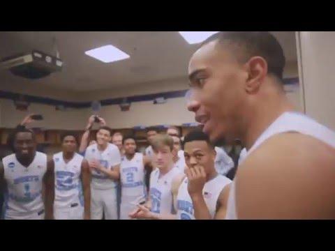 UNC Men's Basketball: Locker Room Celebration Post Indiana - Elite 8 Bound!