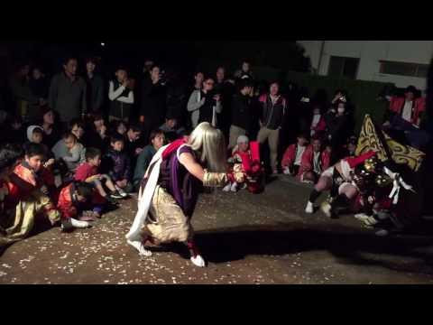 吉久獅子舞 「富山県獅子舞100選」2016