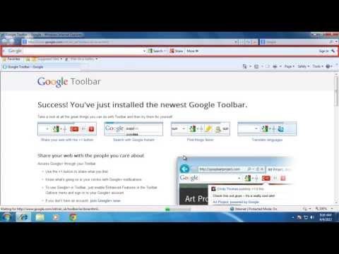 How ToAddGoogleToolbarin Windows 7