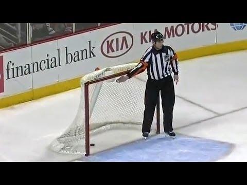Patrick Kane scores own goal in empty-net