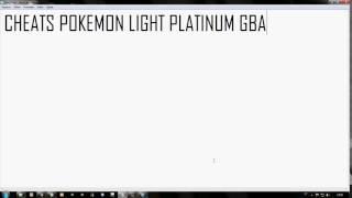 CHEATS POKEMON LIGHT PLATINUM GBA