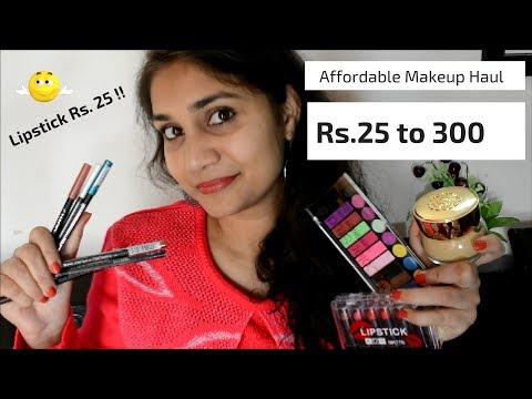 What's New in Affordable with Mini Review   Affordable Makeup rs. 25 to rs 300   Nidhi Katiyar