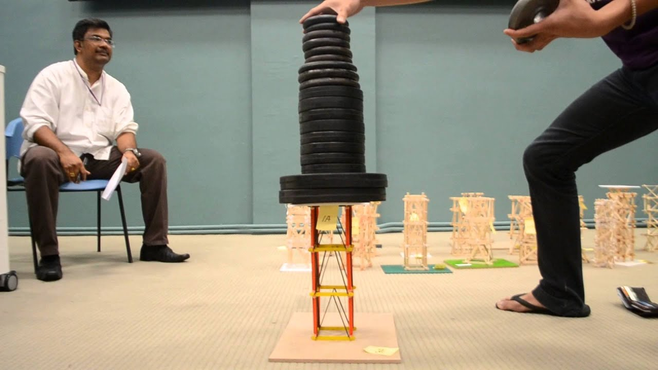 popsicle stick tower strength test part 1 - youtube