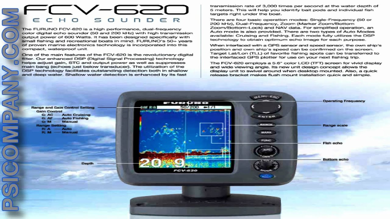 maxresdefault furuno fcv620 fishfinder an overview youtube furuno fcv 620 wiring diagram at edmiracle.co