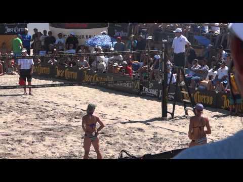 Girls Beach Volley Ball santa monica california