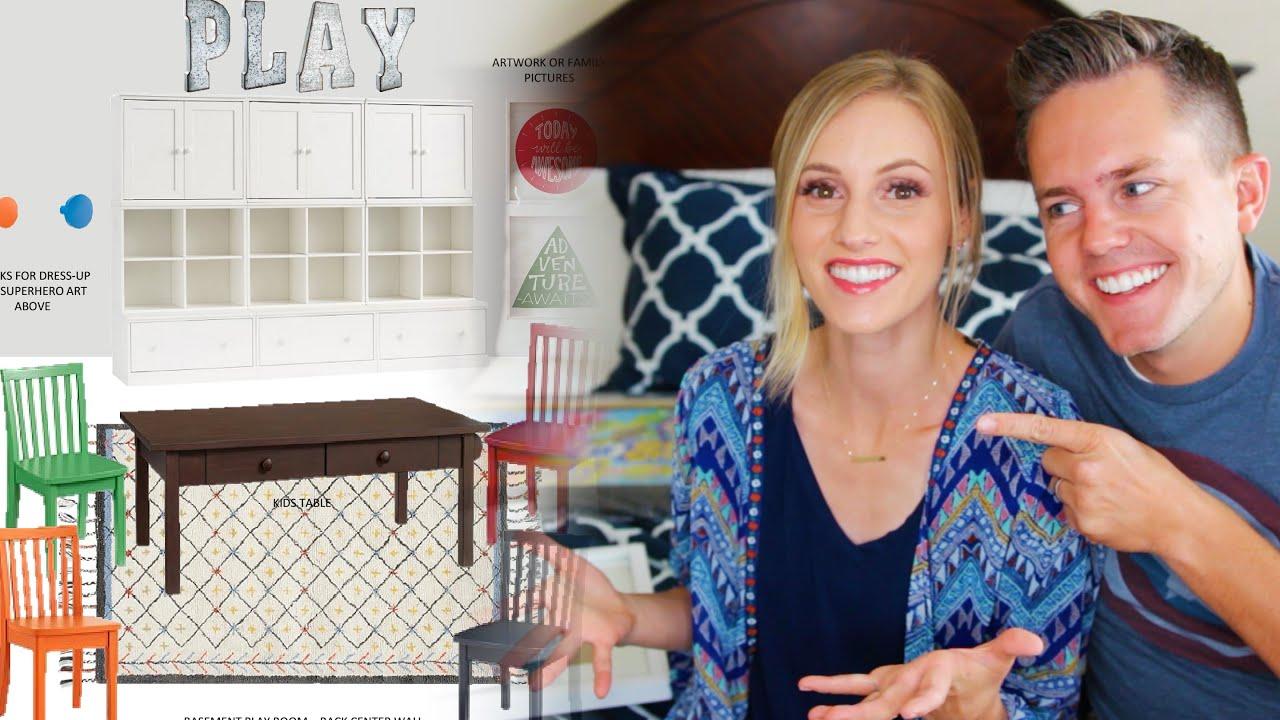 Ellie jared playroom design youtube for Ellie and jared