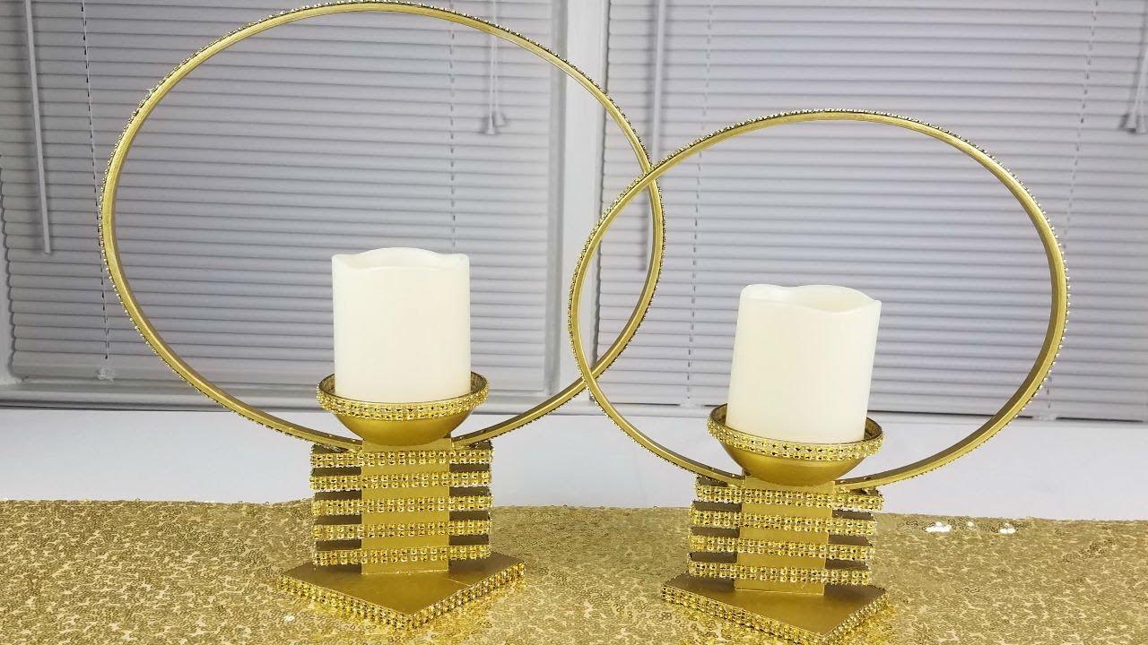 Diy Centerpiece Ideas Diy Candle Holders Youtube