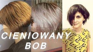 Top 20 najmodniejsze 💖 fryzury bob cieniowany