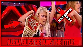 ALEXA BLISS VS NIA JAX WWE EXTREME RULES | BLISS RETAINS TITLE (WWE EXTREME RULES 2018 RESULTS)