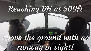 IFR Flight in a Piper Arrow ATC Audio. ILS forced missed approach and RNAV approach to minimums!!
