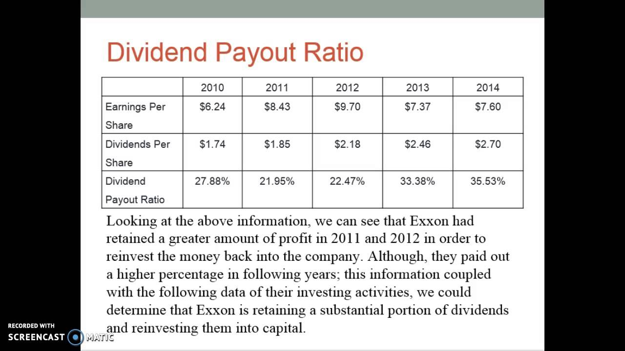 Exxonmobil 2011 financial statement analysis