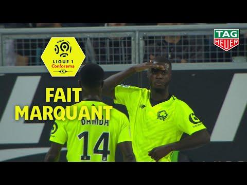 Le 1er triplé de Nicolas Pépé en Ligue 1 Conforama donne la victoire à Lille face à Amiens / 2018-19