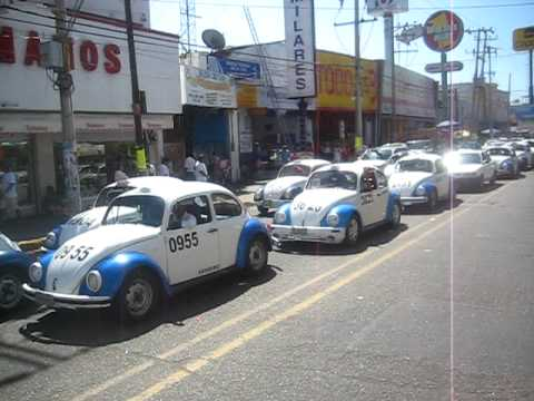 Acapulco's VW Beetle Taxi's