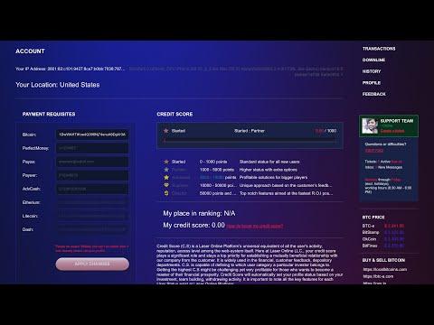 Laser.Online - Day 0 - Deposit/Explanation - Bitcoin Double/Multiplier Scam?