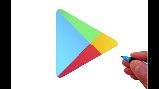 How to Draw the Google Play App Logo