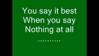 Ronan Keating when you say nothing at all lyrics
