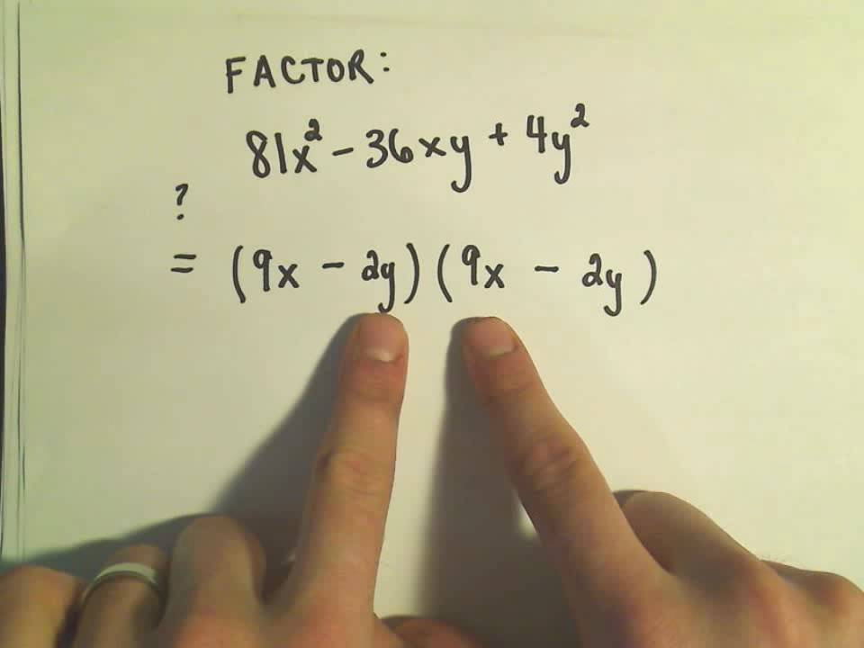 Factoring Perfect Square Trinomials - Ex 2 - YouTube