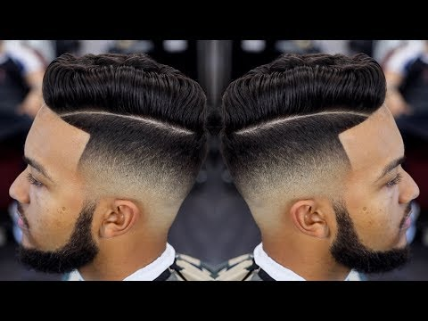 FRESHEST MID FADE COMB OVER HAIRCUT TUTORIAL