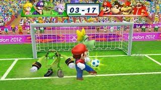 Mario & Sonic At The London 2012 Olympic Games Football Mario, Donkey Kong, Bowser, Dr Eggman