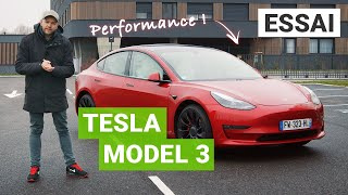 Essai TESLA Model 3 Performance 2021 : on monte à 240 km/h sur l'autoroute !