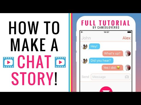 How To Make A Chat Story (Text Story) | via the Texting