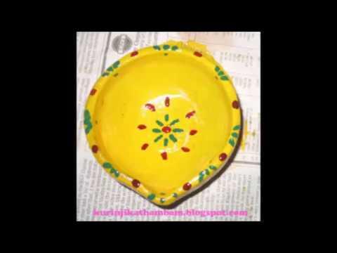 How to paint diyas / Agal Vilakku Painting / Karthigai Vilakku Painting