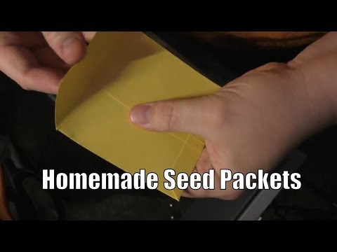 DIY Seed Packet Envelopes for Home Gardeners