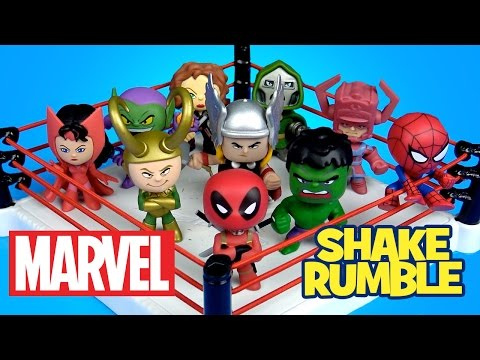 MARVEL Superheroes Shake Rumble with Deadpool, Thor, Spiderman Toys MARVEL Mystery Minis by KidCity