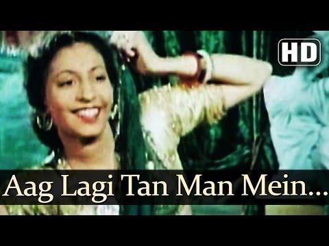 Aag Lagi Tan Man Mein HD  Aan 1952 Songs  Dilip Kumar  Nadira  Sheela Naik