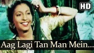 Aag Lagi Tan Man Mein (HD) - Aan (1952) Songs - Dilip Kumar - Nadira - Shamshad Begum