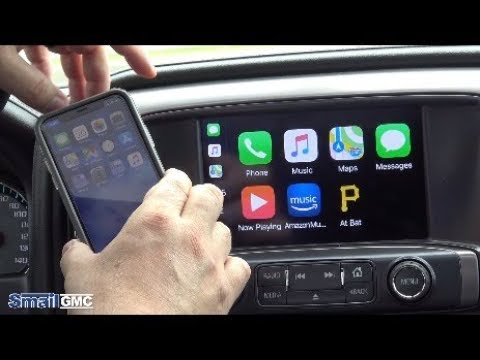 How To Connect Your Iphone To Your Gmc With Apple Carplay Youtube