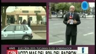 C5N -Eleccion 2015:   Voto mas del 80% del padron en Tucuman
