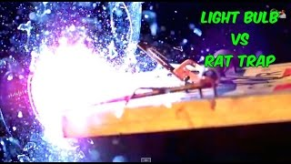 Spectacular light bulb crash - with rat trap in super slow motion | slow mo lab