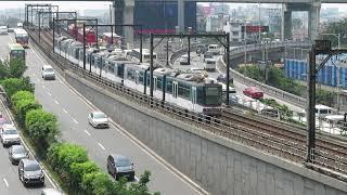 マニラMRT3号線3000形 マガリャネス駅到着 Manila MRT Line 3 Class 3000