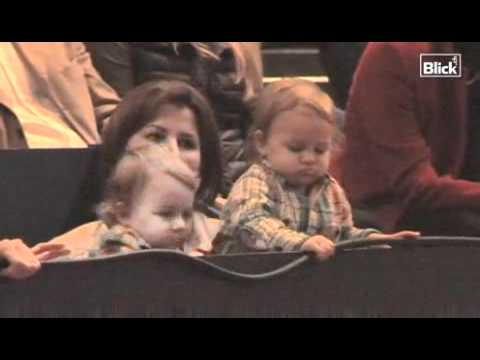 Roger Federer Twin Daughters at Swiss Open 2010
