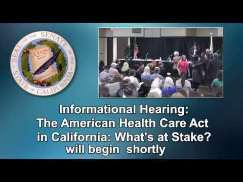 Health Committee Hearing San Diego