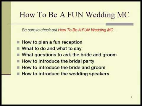 Wedding mc tips youtube for Mc template for wedding