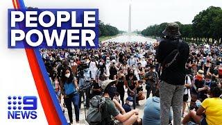 Washington hosts largest rally since Floyd death | Nine News Australia
